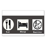 Eat, Sleep, Survive Sticker (Rectangle)