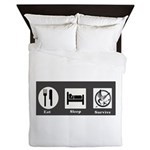 Eat, Sleep, Survive Queen Duvet