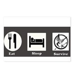 Eat, Sleep, Survive Postcards (Package of 8)