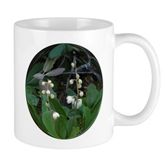 White Veined Wintergreen Flower Mug