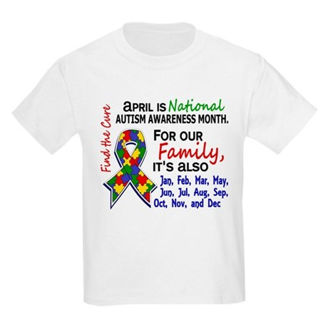 For Our Family 3 Autism Kids Light T-Shirt