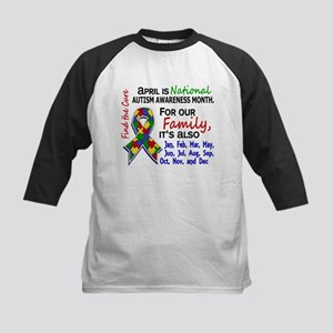 For Our Family 3 Autism Kids Baseball Jersey