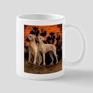 rhodesian ridgeback sunset Mug