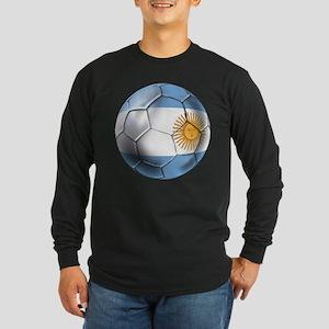 Argentina Football Long Sleeve Dark T-Shirt