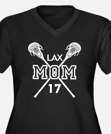 LAX MOM LACROSSE NUMBER WHITE Plus Size T-Shirt