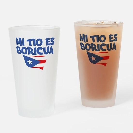 Mi Tio Es Boricua Drinking Glass