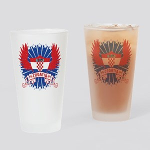 Croatia Winged Drinking Glass