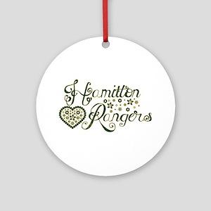 Hamilton Rangers Flower Heart Ornament (Round)