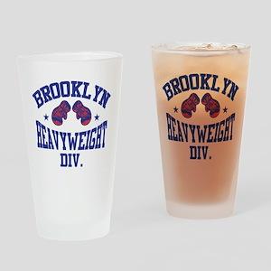Brooklyn Heavyweight Blue Drinking Glass