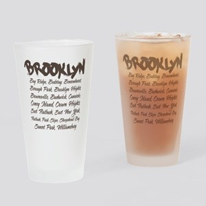 Brooklyn Hoods Drinking Glass