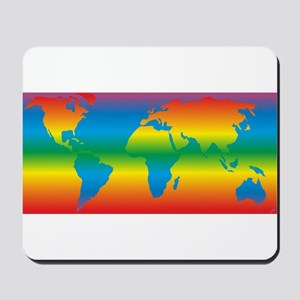 world rainbow 1: Mousepad