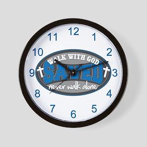 Walk With God(Blue) Wall Clock