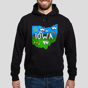 Iowa, Ohio. Kid Themed Hoodie (dark)