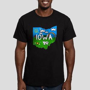Iowa, Ohio. Kid Themed Men's Fitted T-Shirt (dark)