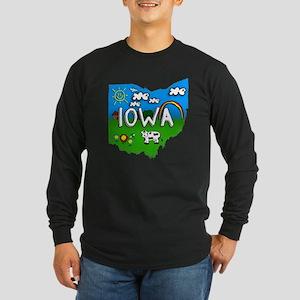 Iowa, Ohio. Kid Themed Long Sleeve Dark T-Shirt