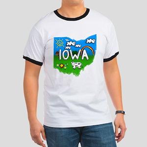 Iowa, Ohio. Kid Themed Ringer T