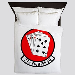 77th Fighter Squadron Queen Duvet