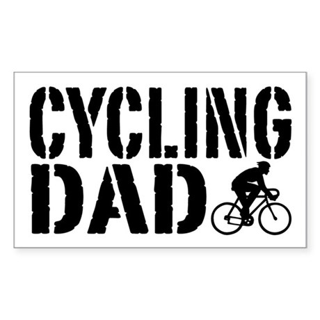 Cycling Dad Sticker (Rectangle)