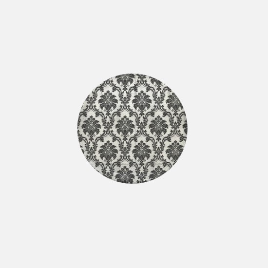 Damask Mini Button