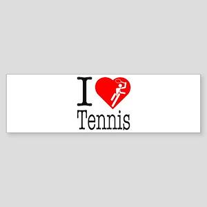 I Love Tennis Sticker (Bumper)