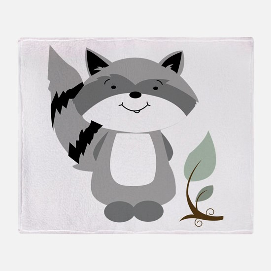 Raccoon Throw Blanket