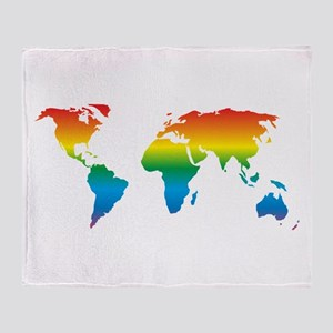 world rainbow 2: Throw Blanket