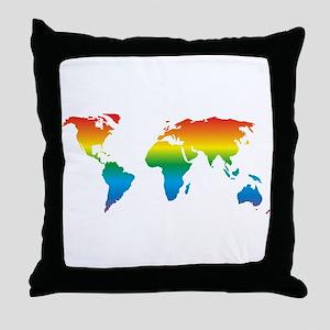 world rainbow 2: Throw Pillow