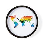 world rainbow 2: Wall Clock