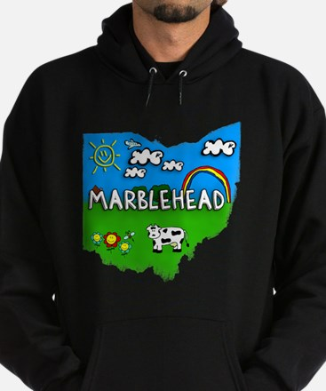 Marblehead, Ohio. Kid Themed Hoodie (dark)