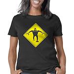 Caution Robots Sign Women's Classic T-Shirt
