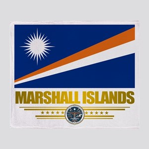 """Marshall Islands Flag"" Throw Blanket"