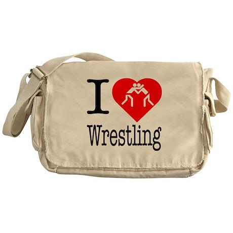 I Love Wrestling Messenger Bag
