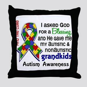 Blessing 4 Autism Throw Pillow