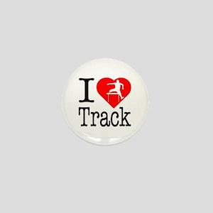 I Love Track Mini Button