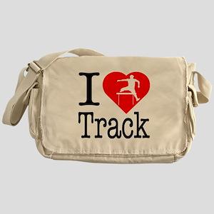 I Love Track Messenger Bag