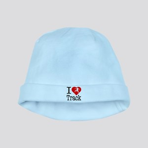 I Love Track baby hat