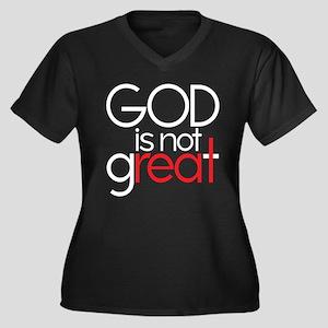 god is not real Women's Plus Size V-Neck Dark T-Sh