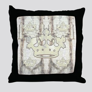 Sherwood Forest Crown Throw Pillow