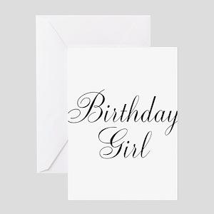 Birthday Girl Black Script Greeting Card