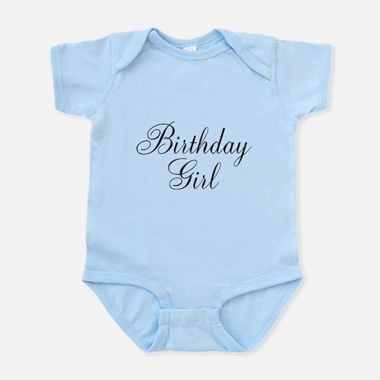 Birthday Girl Black Script Infant Bodysuit