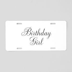 Birthday Girl Black Script Aluminum License Plate