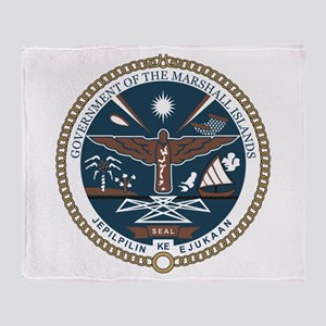 """Marshall Islands COA"" Throw Blanket"