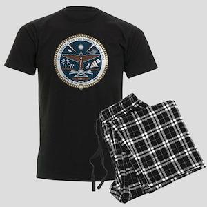 """Marshall Islands COA"" Men's Dark Pajamas"