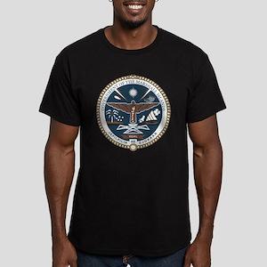 """Marshall Islands COA"" Men's Fitted T-Shirt (dark)"