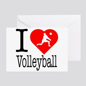 Bump mens greeting cards cafepress i love volleyball greeting card m4hsunfo