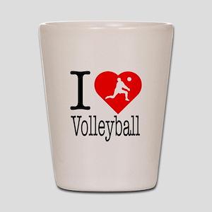 I Love Volleyball Shot Glass