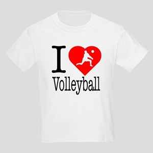 I Love Volleyball Kids Light T-Shirt