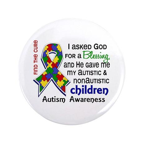 "Blessing 4 Autism 3.5"" Button"