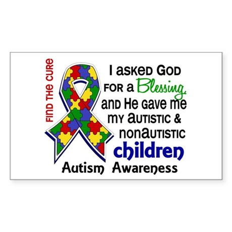 Blessing 4 Autism Sticker (Rectangle)