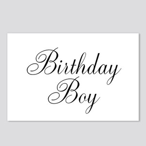 Birthday Boy Black Script Postcards (Package of 8)
